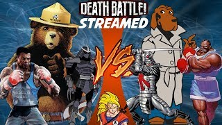 Smokey Bear VS McGruff the Crime Death Battle! Live Streaming REACTION!!! (Last 3 Fights 9/29/2017)