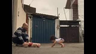 Little baby gymnastic