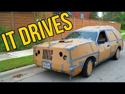 Xxx Mp4 HOMEMADE DRIVABLE CAR BOX FORT CHALLENGE 3gp Sex