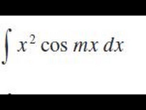 Integrate x^2 cos(m*x) dx
