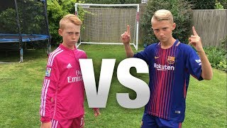 Messi VS Ronaldo FOOTBALL CHALLENGES! (WITH A FORFEIT)
