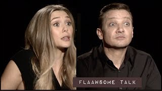 Elizabeth Olsen & Jeremy Renner On Pain & Grief + Why It's So Hard To Talk About (Wind River)