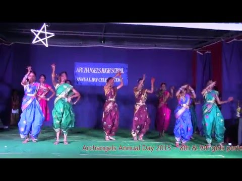 Archangels High School - Annual Day 2015 - 8th & 9th girls performing