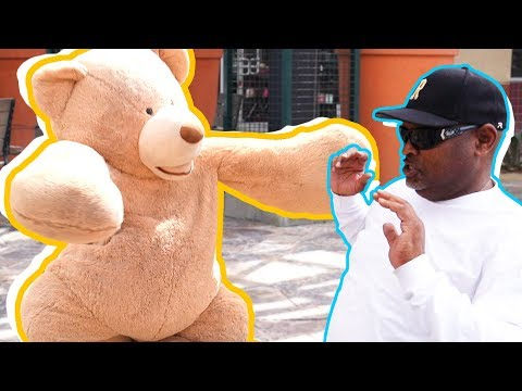 TEDDY BEAR COSTUME SCARE PRANK IN PUBLIC