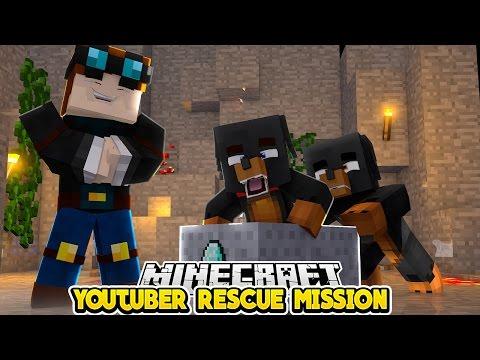 Minecraft YOUTUBER RESCUE MISSION Little Club Baby Max DANTDM STAMPY & SKYDOESMINECRAFT