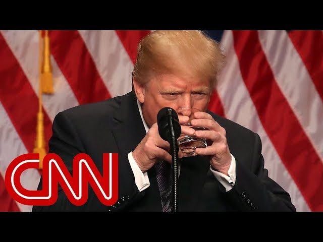 Trump's sealed water glass floats theories