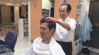Unintentional ASMR ✦ Head & Hair Massage by elderly Japanese Barber
