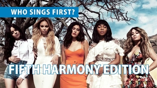 [RANKING] Who Sings First?   FIFTH HARMONY