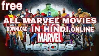 DOWNLOAD ALL MARVEL MOVIES in hindi HD QUALTY! how to watch online all movies
