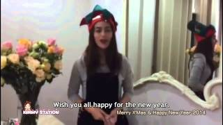 [Eng Sub] Kimberley 2013.12.24 - Merry X'Mas and Happy New Year 2014 from Kimmy