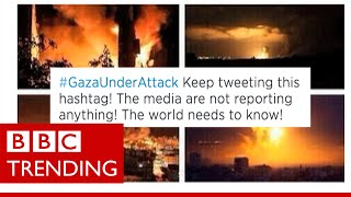How accurate are images on social media of Gaza under attack?