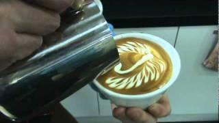 latte art swan
