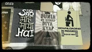 Delhi /Connaught place /Abusive posters / Filmi posters/phata poster nikla hero # Filmi posters