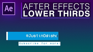 How to Create a Simple Lower Third Intro Animation (Adobe After Effects CC Motion Graphics Tutorial)
