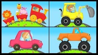 Apprendre les couleurs avec les véhicules - Trains, avions, motos, voitures....