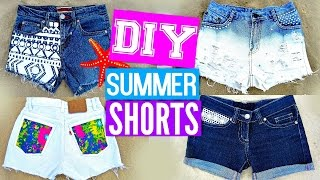 DIY Shorts from Jeans   EASY DIY Clothes for Summer