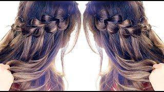 Pull-Through WATERFALL BRAID Hairstyle ★ Easy Hairstyles | Headband Braids