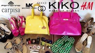 Alışveriş [İtalyadan Aldıklarım] (KIKO, Michael Kors,H&M, Fornarina..)