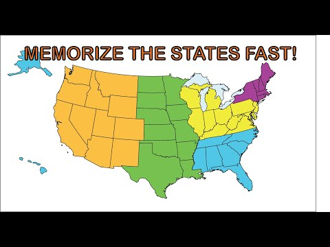 watch Memorize the 50 states song.  The easy and fast way to learn the 50 states for kids and adults.