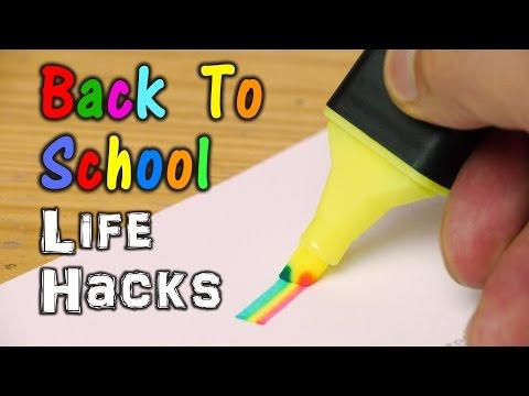 Back To School Life Hacks
