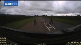 Teenager Playing Chicken Survives Being Hit By Lorry - Heartstopping Moment Boy Gets Hit By Truck
