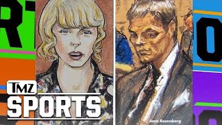 Battle Of The Court Sketches: Tom Brady Vs. Taylor Swift | TMZ Sports