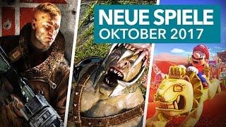 35 neue Konsolenspiele im Oktober 2017 - Release-Vorschau für PS4, Xbox One, Switch & Co.