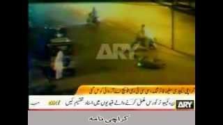 CCTV footage Karachi MQM Target Killers in Black Shirt Killing Pathans in  White Shalwarkamiz