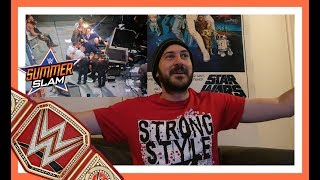 REACTION: BROCK LESNAR VS ROMAN REIGNS VS SAMOA JOE VS BRAUN STROWMAN (WWE SUMMERSLAM 2017)