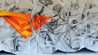 France - Paris 91 • Songe • Red1 (Paper Wall : DSK • VAL • IMF • H2O • C3P )