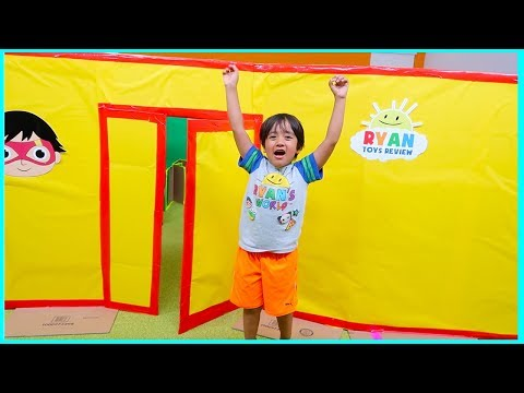 Ryan Giant Box Fort Mansion Pretend Play House Tour