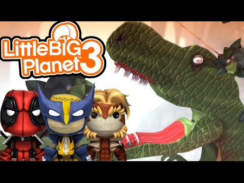 DINOSAURS ARE ANGRY! | Little Big Planet 3 Multiplayer (10)
