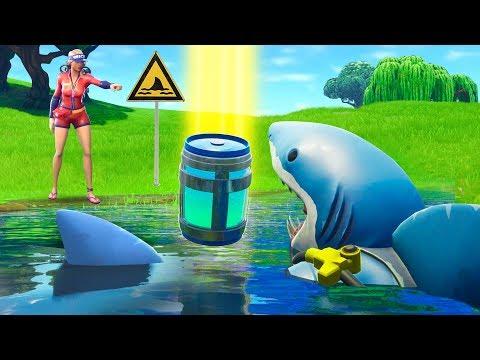 Pretending To Be A Shark in Fortnite Battle Royale