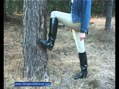 Pulling on and off Aigle ridingboots