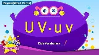 Kids vocabulary compilation - Words starting with U u, V v - Word cards - review
