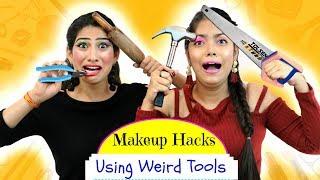 Most FUNNY Makeup HACKS using WEIRD Tools - ऐसा Challenge कभी ना देखा होगा   Anaysa