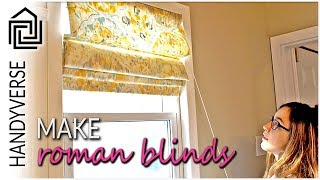 How to Make a Roman Blind : Handy Makes #01