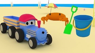 Ted the TRAIN goes to the Beach and LEARNS COLOURS | Educational CARTOON for CHILDREN & TODDLERS