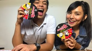 Korean Fire Noodles Challenge ft. Kyline Alcantara | Jonald Helito