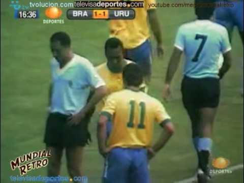 Resumen Brasil vs Uruguay México 70 Mundial Retro