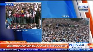 """O ustedes vuelven al orden constitucional o el 3 de noviembre iremos a Miraflores"": Capriles"