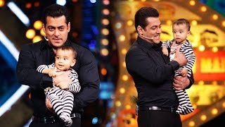Salman Khan HOSTS With Cute Nephew AHIL - Bigg Boss 10