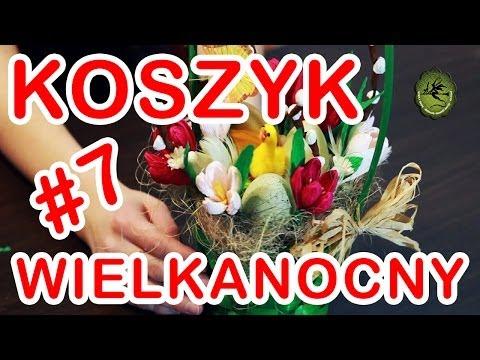 Kwiatki z bibuły 7 ozdobny koszyk wielkanocny