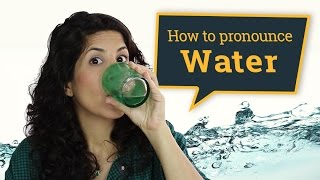 Pronouncing 'water'