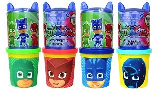 PJ Masks Headquarters Surprise Toys Play Doh Molds Learn Numbers & Colors with Catboy Owlette Gekko
