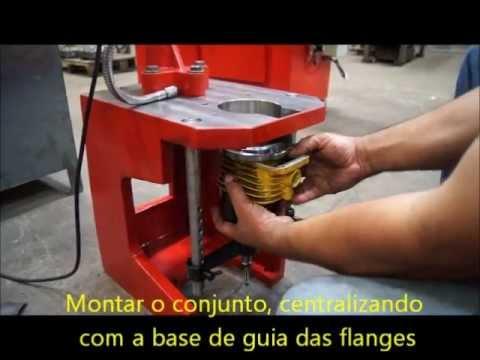 Brunidora de cilindros modelos BR 90 e BR 130 Preparação e Brunimento