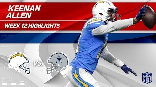 Keenan Allen Sails Past Dallas w/ 11 Grabs, 172 Yds & 1 TD | Chargers vs. Cowboys | Wk 12 Player HLs