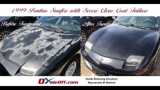 Pontiac Sunfire with Severe Clear Coat Failure