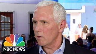 Vice President Mike Pence: United States Won't See Venezuela 'Collapse Into Dictatorship'   NBC News