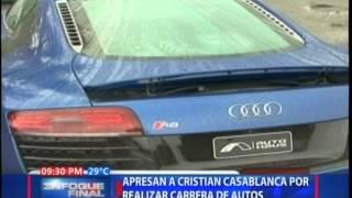 Apresan a Cristian Casablanca por realizar carrera de autos